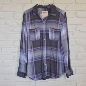 Massimo Boyfriend Fit Button Down Shirt - NWOT